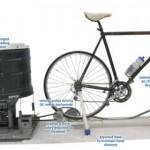 Il top del risparmio energetico: la bicicletta-lavatrice
