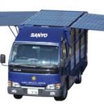 Camion a panneli solari fotovoltaici presentato da Sanyo
