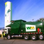 Camion per rifiuti alimentati dal bio-gas