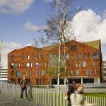 Il nuovo edificio in pelle di acciaio dell'Amsterdam University College