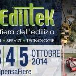 Ediltek 2014, la Fiera dell'Edilizia dal 3 al 5 Ottobre
