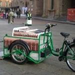 Bologna: bici con pannelli solari per gli spazzini