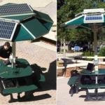 Solar Power Dok, il tavolo da pic-nic con pannelli fotovoltaici